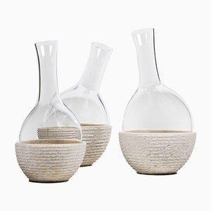 Versante Dekanter von Gumdesign für La Casa di Pietra, 3er Set