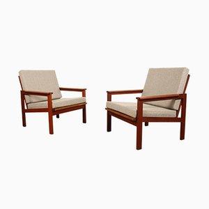 Dänische Capella Stühle aus Teak von Illum Wikkelsø für Niels Eilersen, 1960er, 2er Set