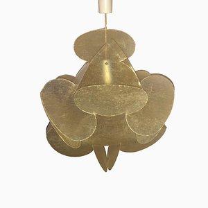 Lámpara de araña Plan de fibra de vidrio de Enrico Botta para Sundown, 1968