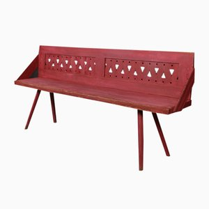 Antique Continental Wooden Bench
