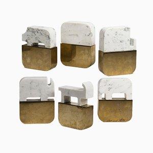 Sculture Fossili di Gumdesign per La Casa di Pietra, set di 6