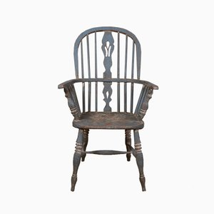 Antique Wooden Painted Windsor Chair, 1850s