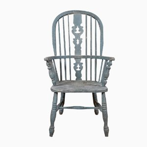 Antiker Windsor Chair aus lackiertem Holz, 1850er
