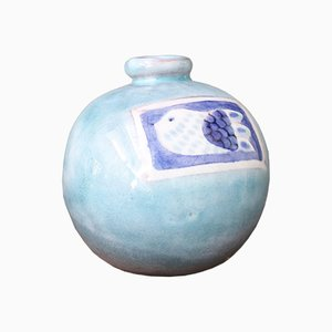 Mid-Century French Ceramic Vase by Jean and Robert Cloutier, 1960s