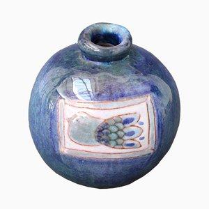 Französische Mid-Century Keramikvase in Vogel-Optik von Robert Cloutier, 1960er