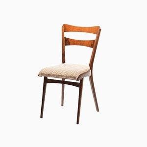 Czechoslovak Walnut Veneer Dining Chairs from TON, 1960s, Set of 4