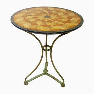 Antique French Wrought Iron Side Table, 1920s