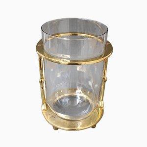 Vase aus Messing & Glas von David Marshall, 1970er