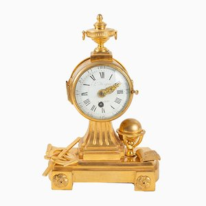 Antique French Gilt Bronze and Glass Clock