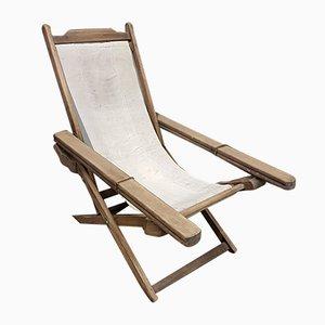 Vintage Teak Lounge Chair, 1920s