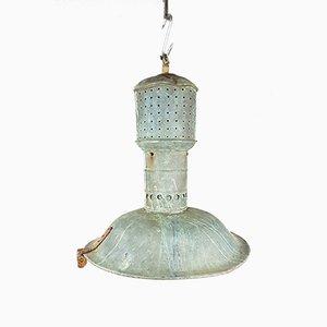 Lámpara de araña antigua de cobre