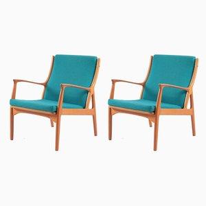 Dänische Sessel aus Teakholz von E. Andersen und P. Pedersen für Horsnaes, 1960er, 2er Set