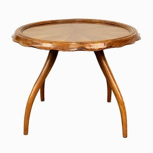 Italian Walnut Coffee Table by Osvaldo Borsani for Arredamenti Borsani, 1940s