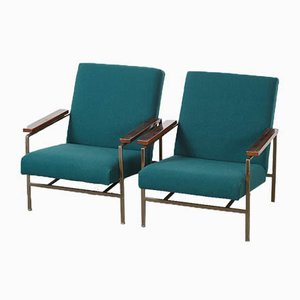 Modernist Metal Lounge Chairs by Rob Parry for De Ster Gelderland, 1960s, Set of 2