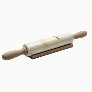 White Carrara Marble Rolling Pin from FiammettaV Home Collection