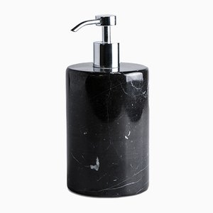 Black Marquina Marble Soap Dispenser from Fiammettav Home Collection