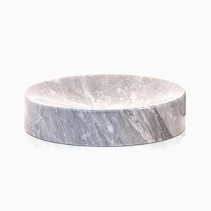 Grey Bardiglio Marble Soap Dish from FiammettaV Home Collection