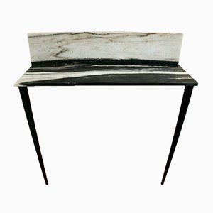 Table Console Sospesa en Marbre et Bois par Guido Ciompi pour FiammettaV Home Collection