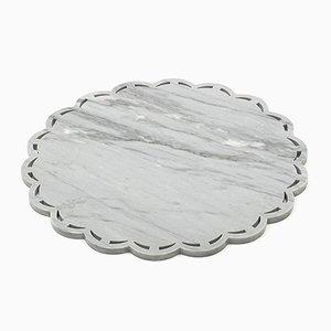 Vassoio rotondo in marmo grigio di FiammettaV Home Collection