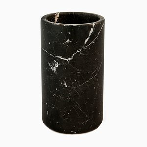 Utensilienständer aus schwarzem Marquina Marmor von Fiammettav Home Collection