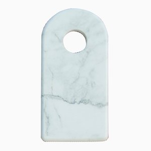 Carrara Marble Chopping Board with Hole from FiammettaV Home Collection