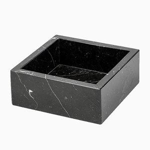Quadratisches Gästehandtuch aus schwarzem Marquina Marmor von FiammettaV Home Collection