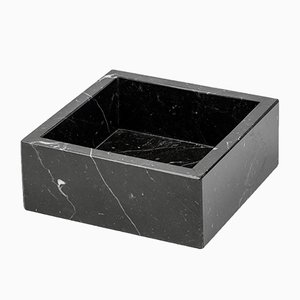 Squared Black Marquina Marble Guest Towel Tray from FiammettaV Home Collection