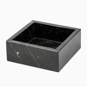 Toallero cuadrado de mármol Marquina negro de FiammettaV Home Collection
