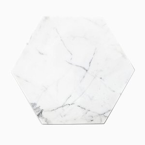 White Marble & Cork Hexagonal Plate from FiammettaV Home Collection