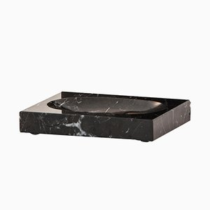 Black Marquina Marble Soap Dish from FiammettaV Home Collection