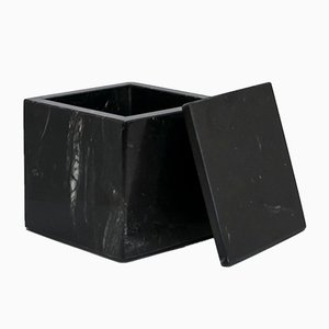 Square Black Marble Box from FiammettaV Home Collection