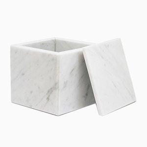 Caja cuadrada de mármol de Carrara blanco de FiammettaV Home Collection