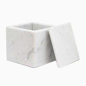Weißes rechteckiges Kästchen aus Carrara Marmor von FiammettaV Home Collection