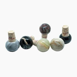 Marble & Cork Bottle Stoppers from FiammettaV Home Collection, Set of 6