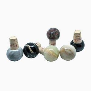 Tapones para botellas de mármol y corcho de FiammettaV Home Collection. Juego de 6