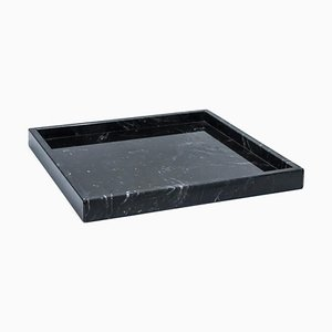 Square Black Marquina Marble Tray from FiammettaV Home Collection