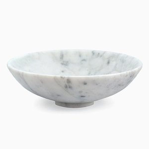 White Carrara Marble Bowl from FiammettaV Home Collection