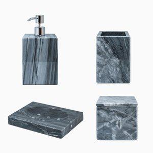 Grey Bardiglio Marble Bathroom Set from FiammettaV Home Collection