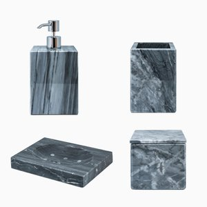 Grey Bardiglio Marble Bathroom Set from FiammettaV Home Collection