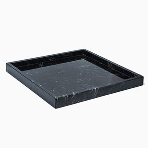 Squared Black Marquina Marble Tray from FiammettaV Home Collection