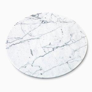 Runder weißer Käseteller aus Carrara Marmor von FiammettaV Home Collection