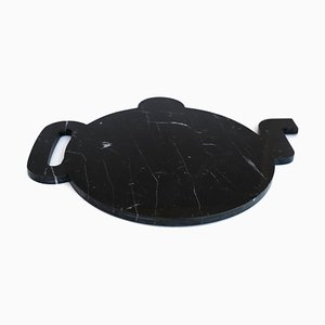 Black Marble Teapot-Shaped Plate from FiammettaV Home Collection
