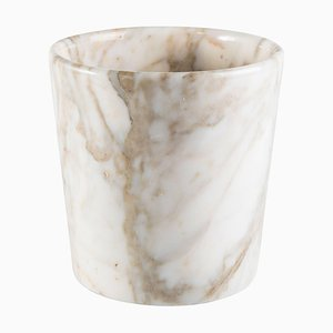 Paonazzo Marble Rounded-Edge Vase with Wavy Edge from FiammettaV Home Collection