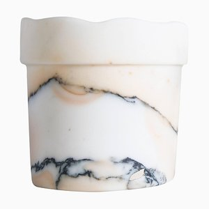 Paonazzo Marble Vase with Wavy Edge from FiammettaV Home Collection