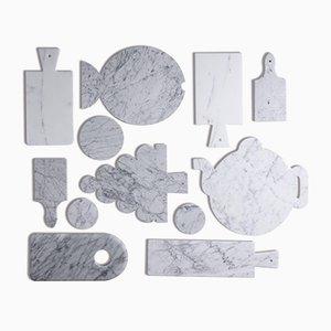 Weißer Teekannenteller aus Marmor von FiammettaV Home Collection
