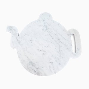 White Marble Teapot Plate from FiammettaV Home Collection