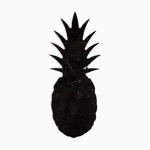 Kleiner schwarzer Briefbeschwerer aus Marmor in Ananas-Optik von FiammettaV Home Collection