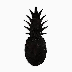 Small Black Marble Pineapple Paperweight from FiammettaV Home Collection
