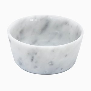 White Carrara Marble Cats and Dogs Bowl from FiammettaV Home Collection