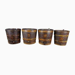 Antique Oak Barrels, Set of 4